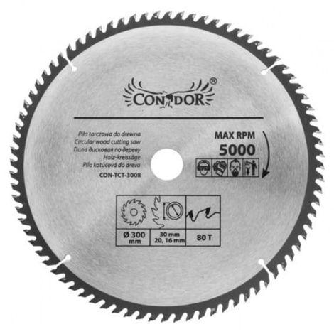 Hoja de sierra para madera 300 mm 80 t dientes wid