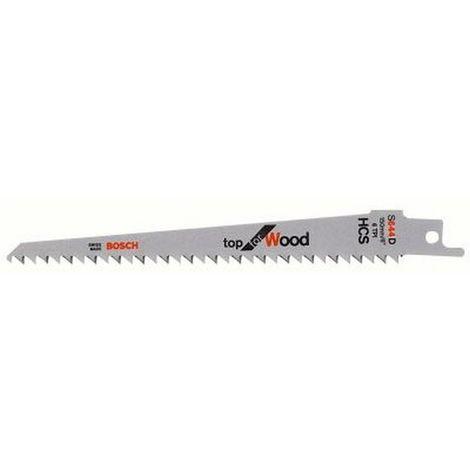 Hoja de sierra sable para madera dura, corte curva fina recta y curva, ref. Bosch : S 644 D, calidad de Hoja de sierra HSC
