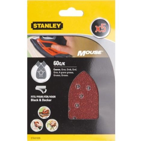 Hoja lija mouse perfor. gr60 stanley 5 pz