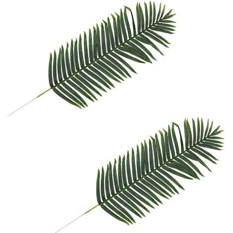 Hojas artificiales de palmera 2 unidades verde 140 cm