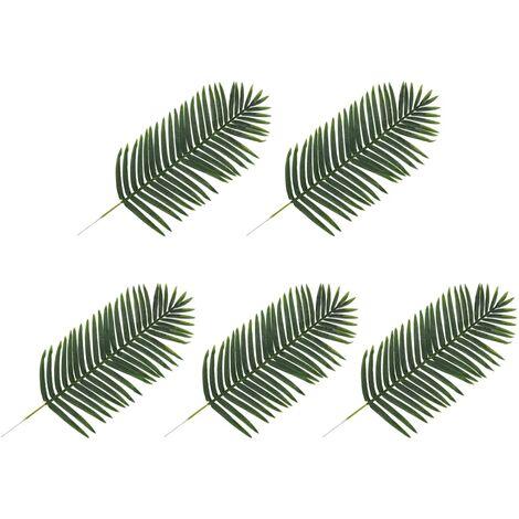 Hojas artificiales de palmera 5 unidades verde 125 cm