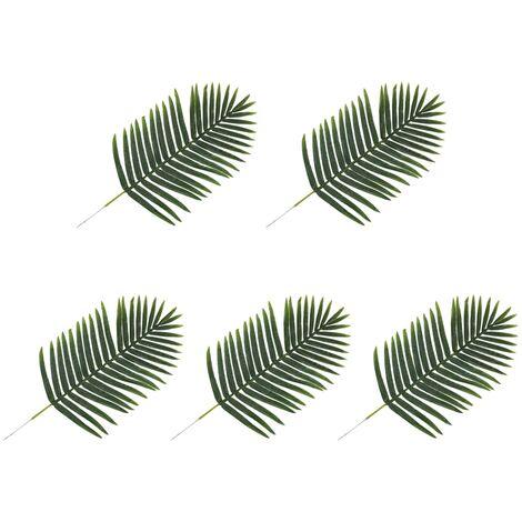 Hojas artificiales de palmera 5 unidades verde 95 cm