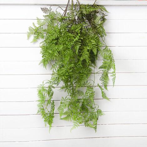 hojas artificiales plantas verdes Plante de helecho en cola de pez de pino