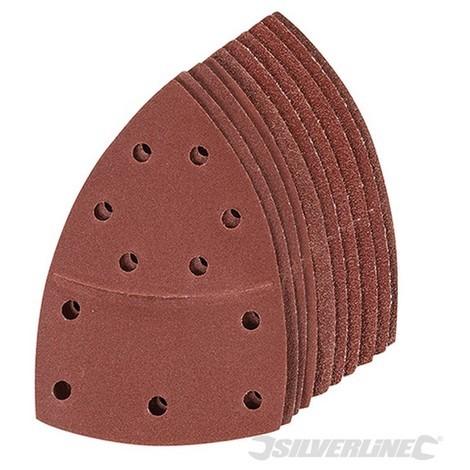 Hojas de lija autoadherentes para multilijadora. 102 x 62 mm. 93 mm. 10 pzas (Grano 2 x 40. 60. 80. 120. 180)