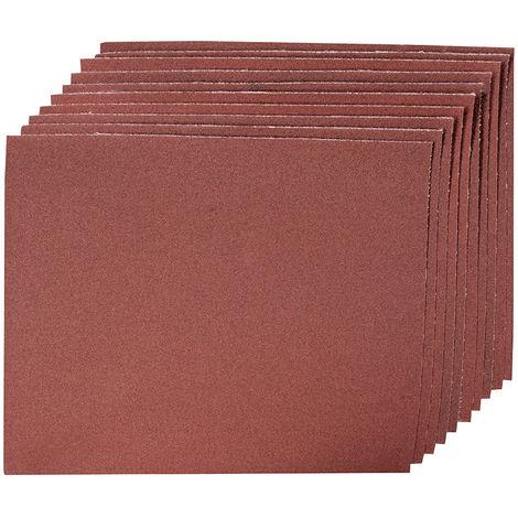 Hojas de lija con revestimiento de tela, 10 pzas Grano 180