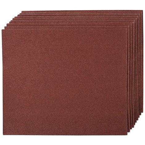 Hojas de lija con revestimiento de tela, 10 pzas Grano 60