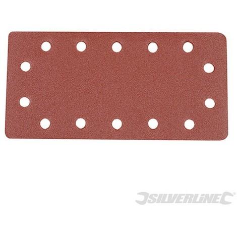 Hojas de lija perforadas autoadherentes 115 x 230 mm. 10 pzas (Grano 120)