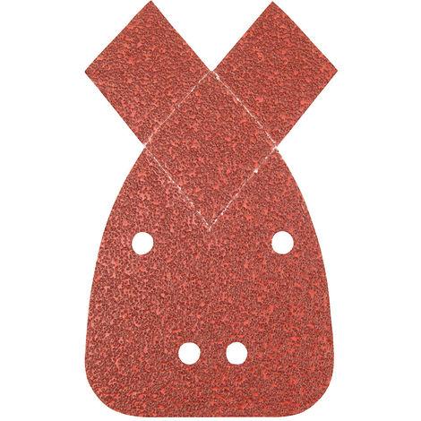 Hojas de lija triangulares autoadherentes con 2 puntas, 140 mm, 10 pzas Grano 120 - NEOFERR