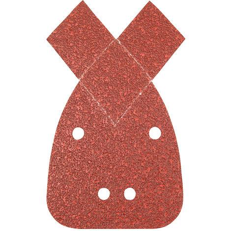 Hojas de lija triangulares autoadherentes con 2 puntas, 140 mm, 10 pzas Grano 80 - NEOFERR