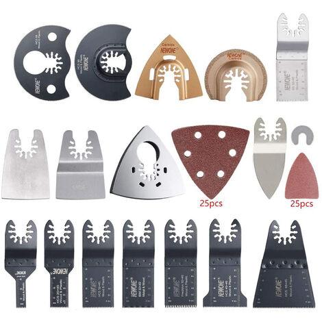 Hojas de sierra oscilante 66pcs para una rapida liberacion de Multi Metal Madera de corte herramienta de lijado Casa bricolaje Accesorios para herramientas electricas, 66pcs