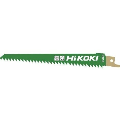 Hojas sierra sable RW10 para madera 150X19X1,25mm HIKOKI 752030