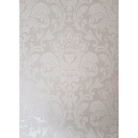 Holden Decor Finley Damask Grey Wallpaper