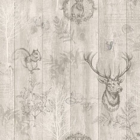 Holden Decor Glasshouse Glasshouse paper Quality wallpaper, Vinyl smooth finish,Paper finish,Easy to hang (Beige)