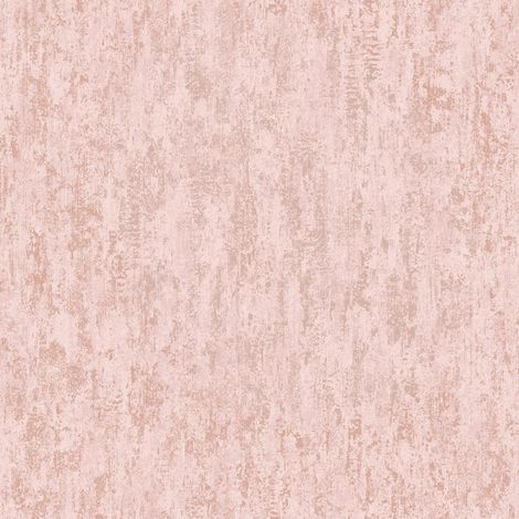 Industrial Textured Metallic Wallpaper Pink Rose Gold Stone Steel Holden Decor