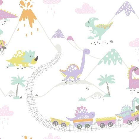 Holden Decor Make Believe Dino Town Heather Wallpaper 12532 - Kids Childrens