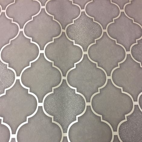 Holden Decor Tiling On A Roll Wallpaper Trellis Charcoal 89311