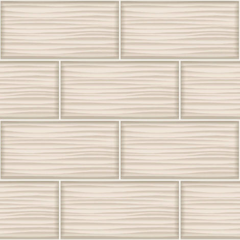Holden Decor Tiling On A Roll Wallpaper Wave Natural 89321