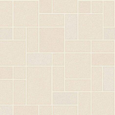 Holden Decor - Winchester Tile Textured Kitchen Bathroom Wallpaper - Beige 89291