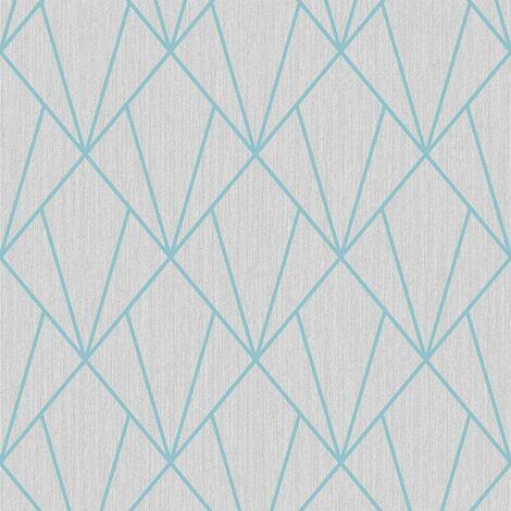 Holden Wallpaper Glistening Geo Grey/Rose Gold 12752