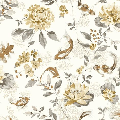 Holden Wallpaper Koi Neutral Beige 98683
