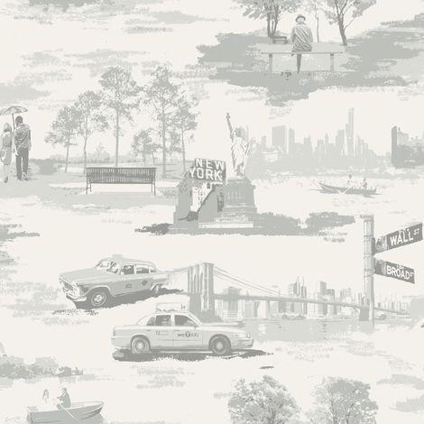 Holden Wallpaper Liberty Silver/Grey 98320