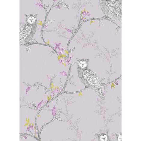 Holden Wallpaper Owls Heather 12200
