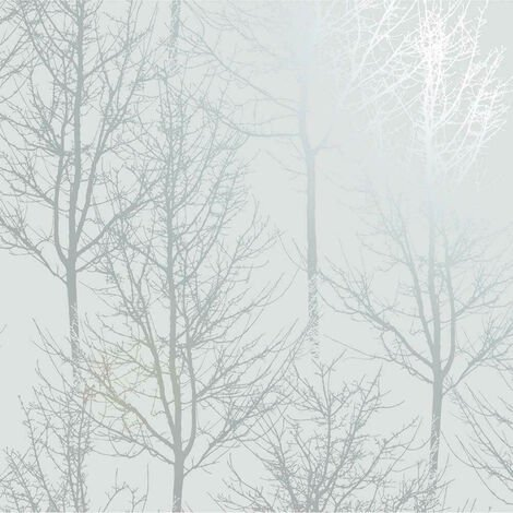 Holden Wallpaper Rhea Trees Grey/Silver Effect 90760