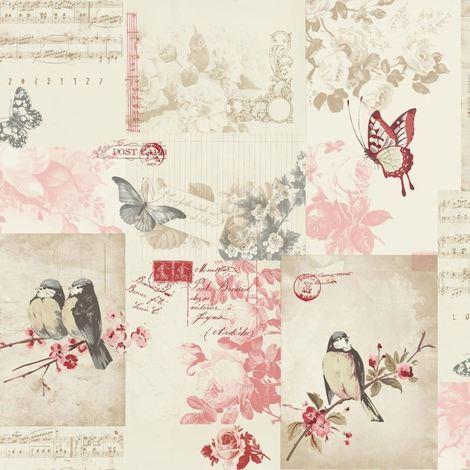 Holden Wallpaper Songbird Cranberry 11262