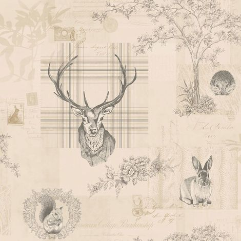 Holden Washable Wallpaper Richmond Cream & Charcoal 98012