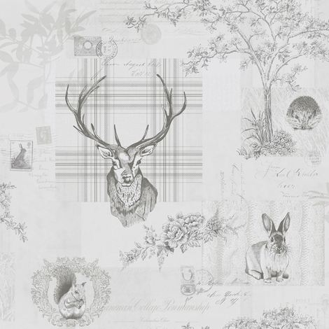 Holden Washable Wallpaper Richmond Grey & Charcoal 98013