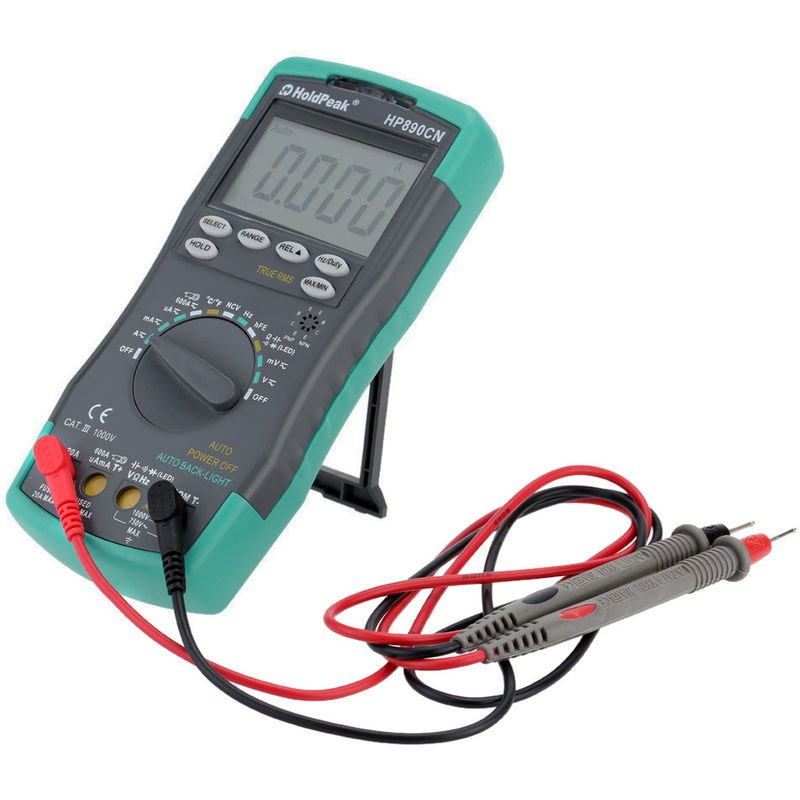 Image of 890CN LCD Digital Multimeter Auto Range Without Battery Shipping - Holdpeak
