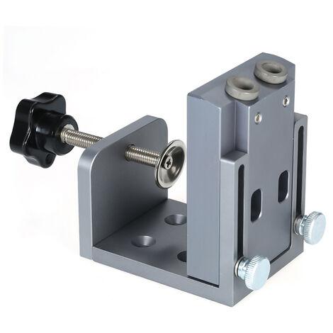 Hole Locator Jig DIY Kit System Pocket Hole Locator for Wood Working Pocket Hole Drilling Guide Kit