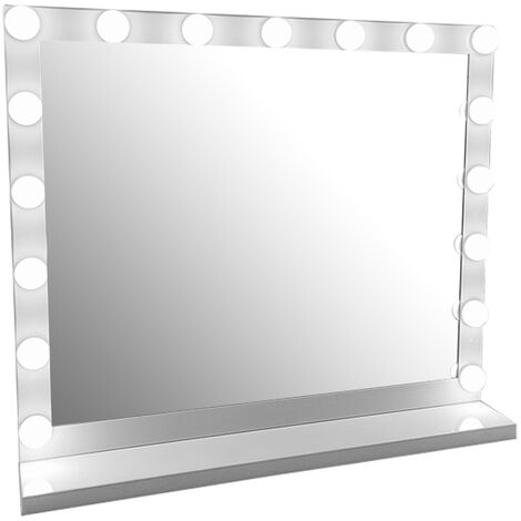 Hollywood 17 Bulbs LED Makeup Mirror Illuminated Cosmetic White 60x52.5cm