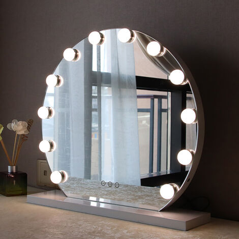 Hollywood Dimmable 12 LED Make Up Mirror Vanity Light