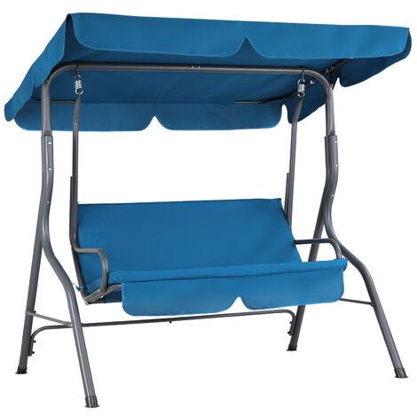 Hollywood Garden Bench Swing Chair Blue