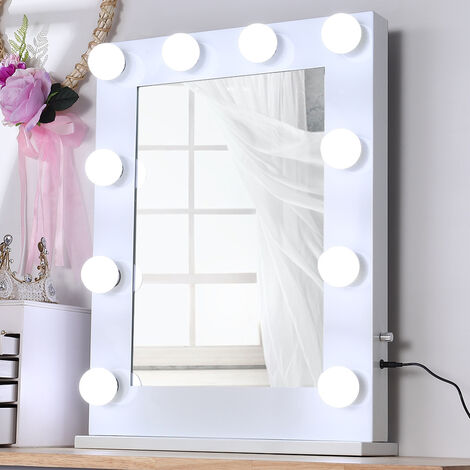 Hollywood LED Bulbs Dimmable Makeup Mirror Tabletop Mirror, 80x65CM