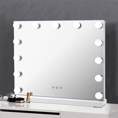 """main image of """"Hollywood Makeup Mirror LED Blub With Light Smart Touch Screen"""""""