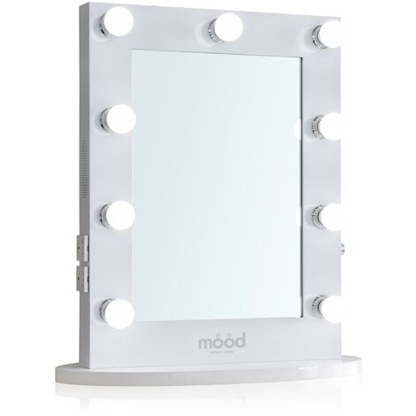 Hollywood Mirror 65cm x 50cm with Bluetooth Speakers, Dressing Table or Wall Mounted, Vanity Mirror