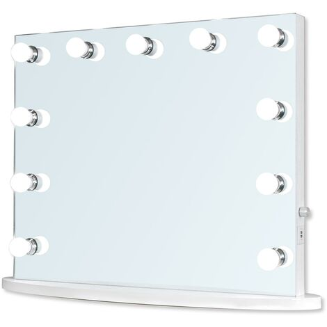 Hollywood Mirror 65cm x 80cm, Dressing Table or Wall Mounted, Vanity Mirror