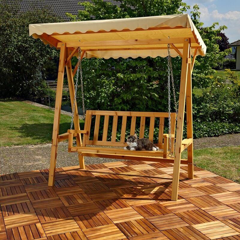 Fabulous Hollywoodschaukel Gartenschaukel Hängeschaukel Schaukelbank Holz TO66