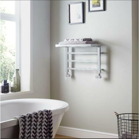 Holyport Shelf Designer Towel Rail 350x500 610 BTU's Chrome