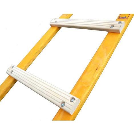 Holz Dachleiter mit flachen Sprossen; klappbar - Sprossenabstand 25cm (in verschiedenen Größen erhältlich)