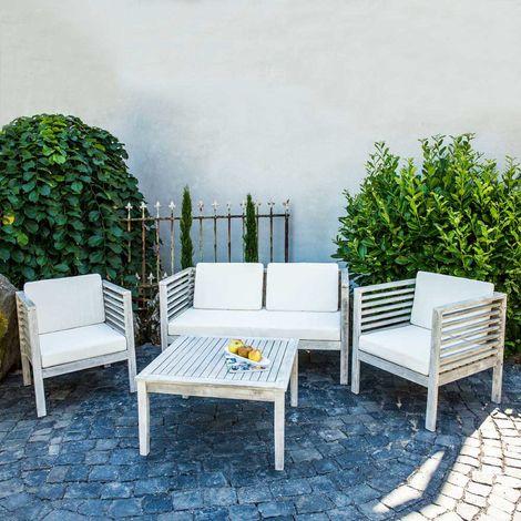 Relativ Holz Gartenmöbel Sitzmöbel Sitzgruppe Sitzgarnitur Gartenset Tisch QE34