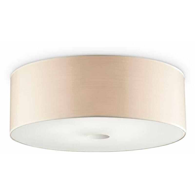01-ideal Lux - HOLZ Holz Deckenleuchte 4 Glühbirnen