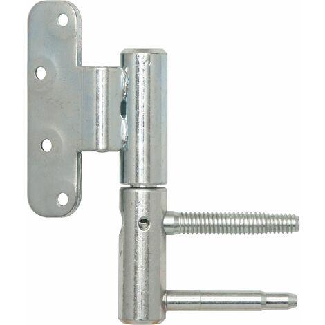 Türband 3-DIM 2-tlg. f.stumpfe Türen, ø 20mm rechts,Bandhöhe 112mm, silber