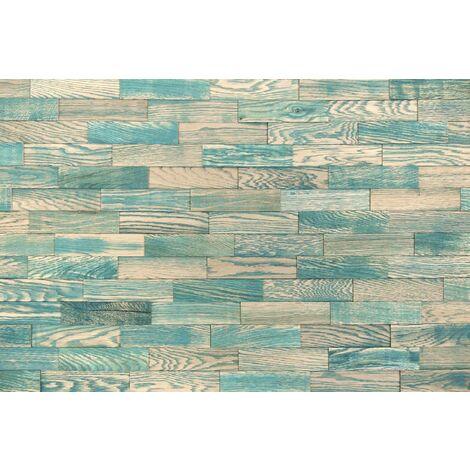 Holz-Wandverkleidung 3D Vintage Optik V10 Eichenholz 1m² nachhaltige EchtHolz Wandpaneele | Moderne Wanddekoration