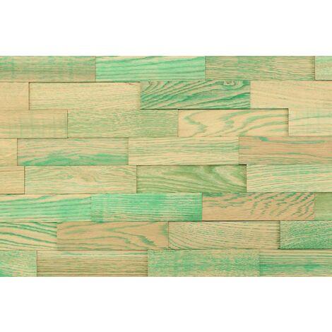 Holz-Wandverkleidung 3D Vintage Optik V11 Eichenholz 1m² nachhaltige EchtHolz Wandpaneele | Moderne Wanddekoration