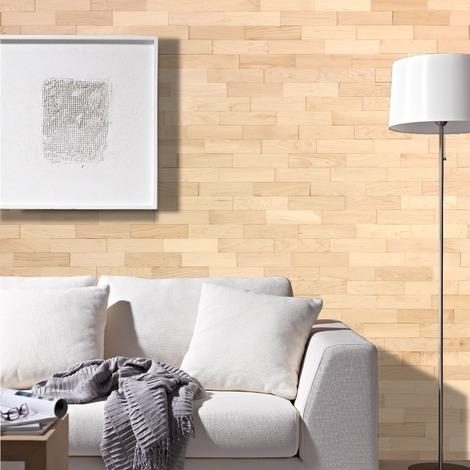 Holz Wandverkleidung Ahorn Echtholz | 3D-Optik | 1m² Holzwand Holzpaneele Wandpaneele Ahorn - geölt