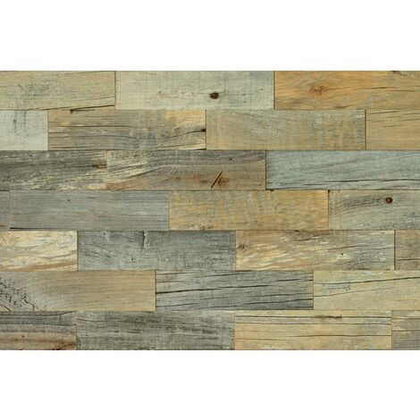 Holz Wandverkleidung Altholz Erle Grau Echtholz Wandpaneele 3D-Optik | 1m² Holzwand Holzpaneele Wandgestaltung