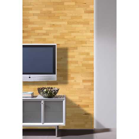 Holz Wandverkleidung Buche Echtholz | 3D-Optik | 1m² Holzwand Holzpaneele Wandpaneele